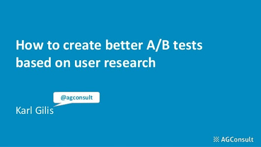 How to create better A/B tests based on user research