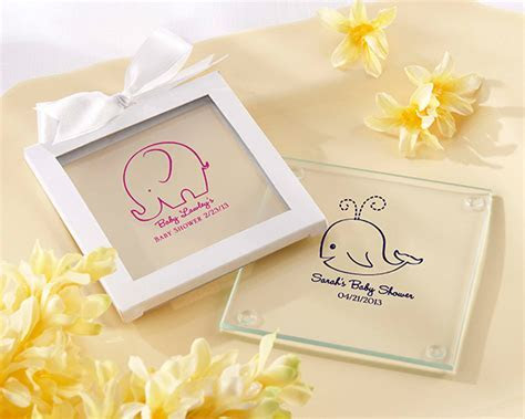 Personalized Baby Shower Glass Coaster (Set of 12)   My