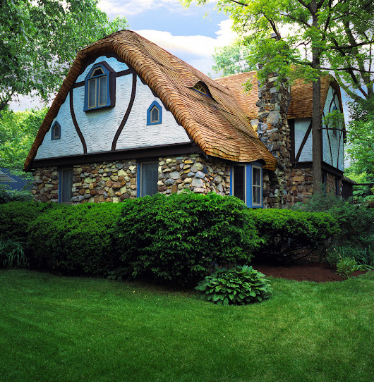 The Tudor Revival House, English Thatched Roof using Wood Shingles