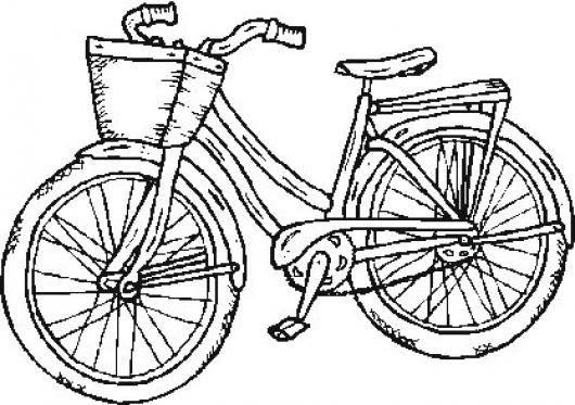 Bicicleta De Mujer Para Pintar Y Colorear Colorear Dibujos De