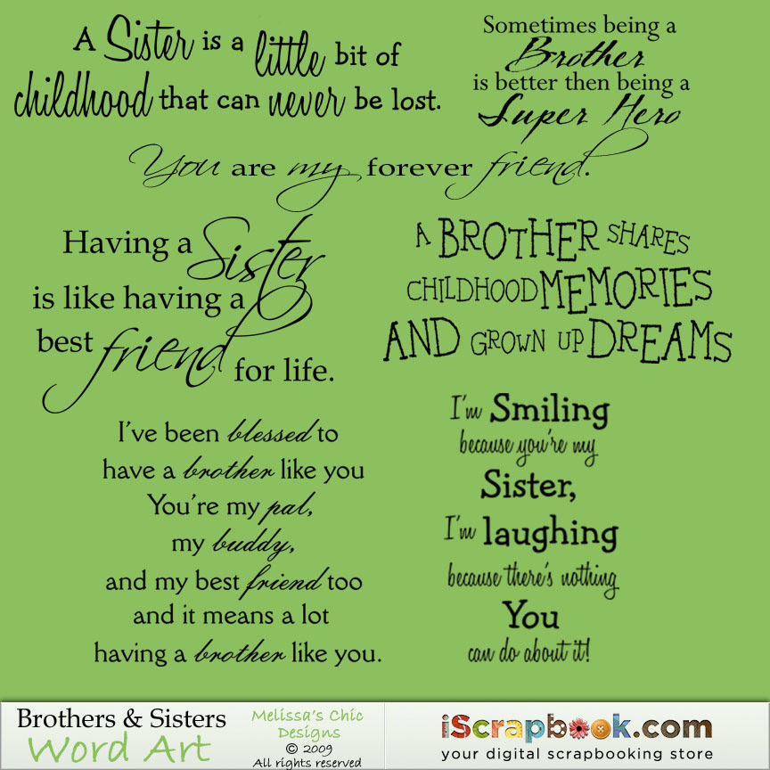 Quotes About Brothers And Sisters Love 49 Quotes