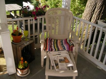 """My Back Deck with My """"Deck Chair"""""""