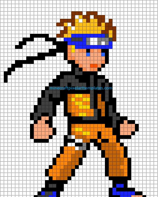 Grid Pixel Art Anime Boy Anime Wallpapers