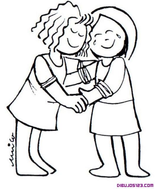 Dibujo De Dos Amigas Que Se Quieren Mucho