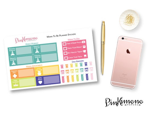 Pretty & Simplified Pregnancy Planner by PinkimonoPapers on Etsy