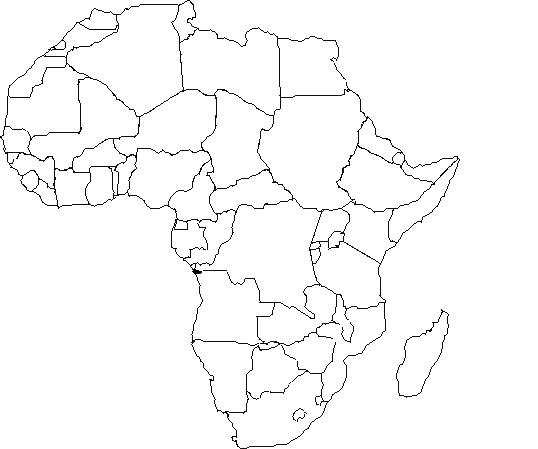 Mapa De Africa Vacio.Mapa De Africa Mudo Mapa