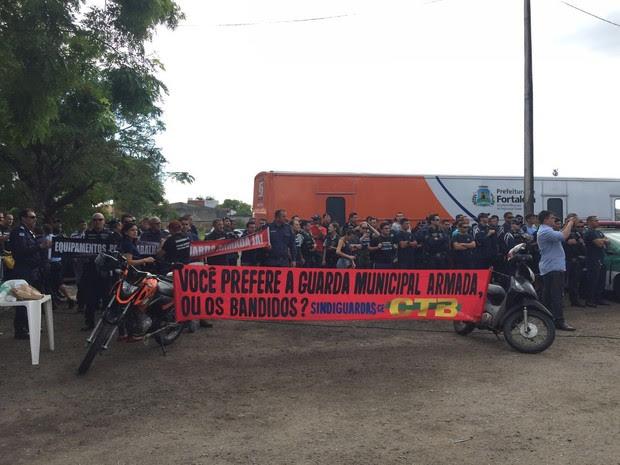 Guardas municipais criticam condições de trabalho e falta de equipamentos (Foto: Divulgação/Sindiguardas)