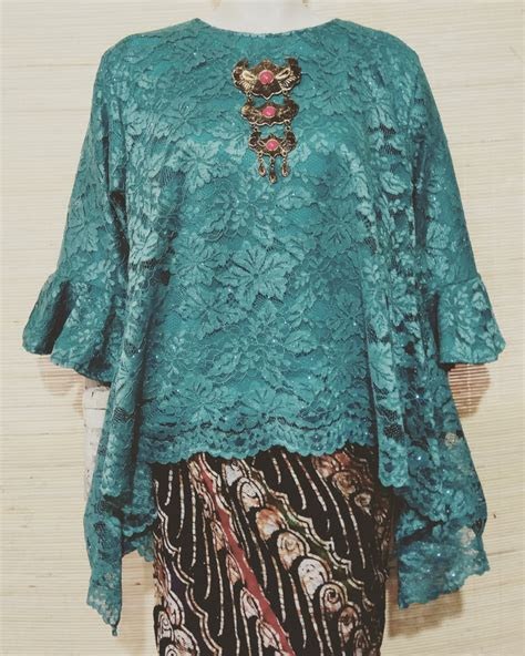 jual baju kebaya modern brokat tunik brukat jumbo atasan
