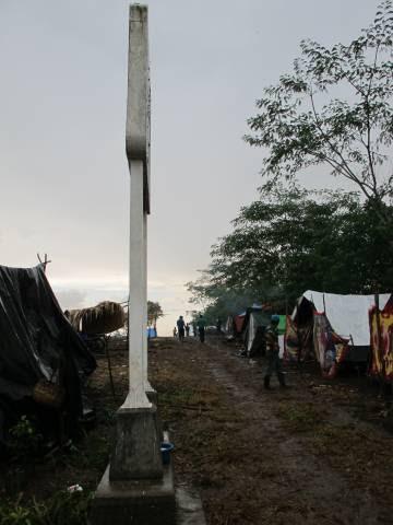 Límite fronterizo entre Guatemala y México.