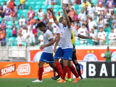 Fahel marcou para levar Bahia à final do Estadual Foto: Romildo de Jesus / Agência Lance