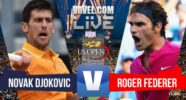 Novak Djokovic x Roger Federer ao vivo online na final do US Open 2015 (2-1)