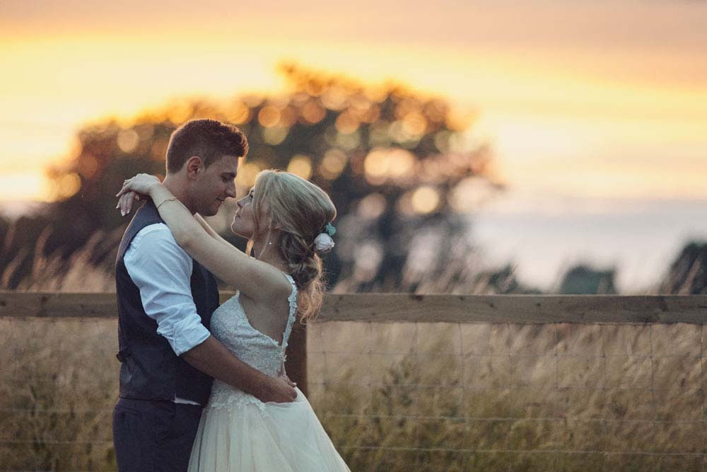 Sunset wedding photo in Sproughton, Suffolk - www.helloromance.co.uk