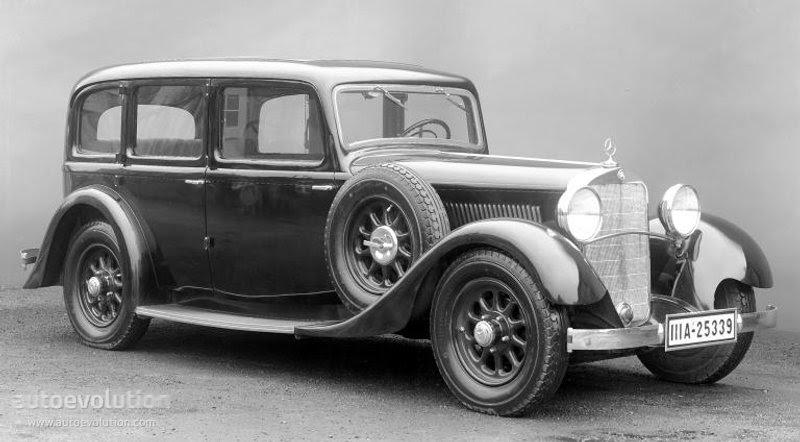 MERCEDES BENZ Typ Mannheim Sedan (W10) - 1929, 1930, 1931 ...