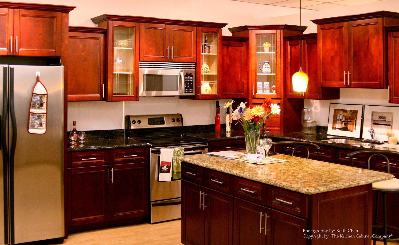 cherry kitchen cabinets cost  Cherry Kitchen Cabinets to Get Traditional Look in Your Kitchen