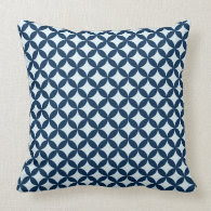 Modern {navy} Pattern Pillow