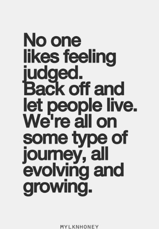 No one likes feeling judged. Back off and let people… | Back Off, Feelings and Cookie Jars