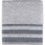 Saturday Knight Cubes Cotton Stripe Bath Towel - Navy