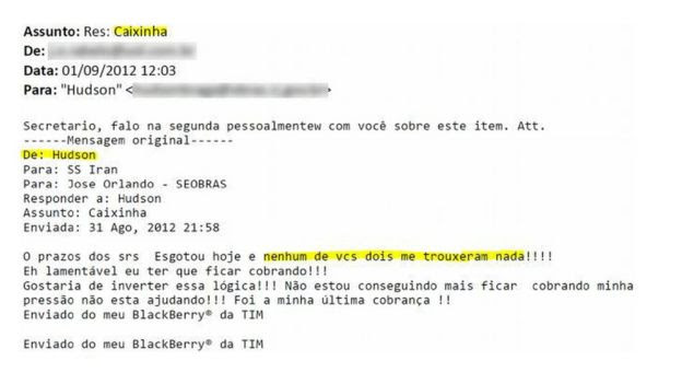 E-mail de Carlos Miranda