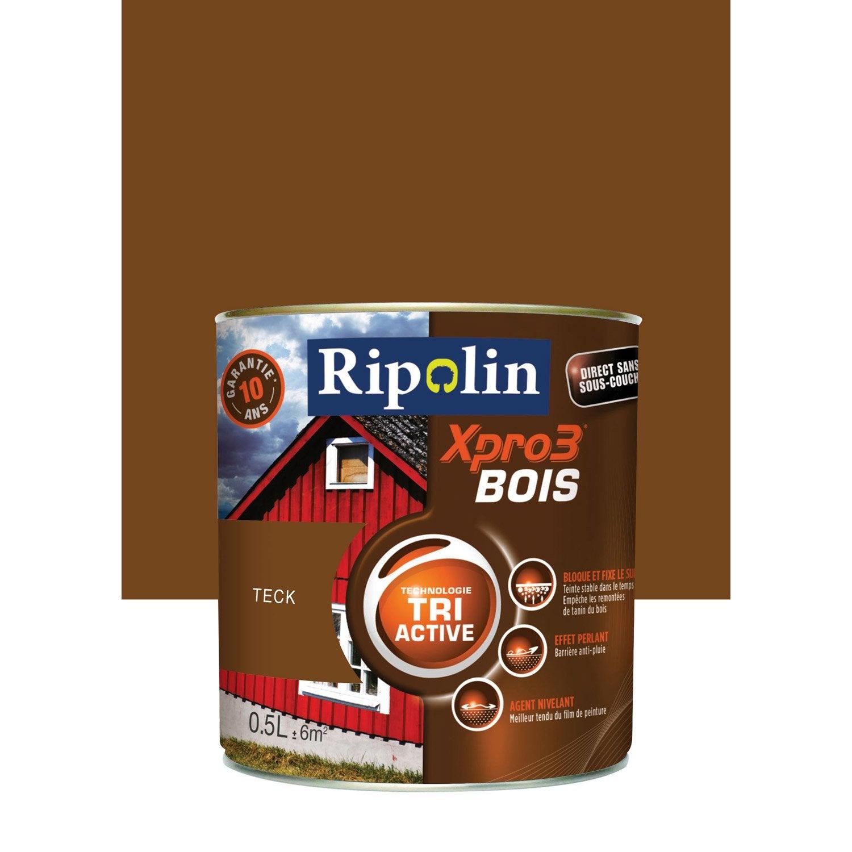 Peinture Bois Extérieur Intérieur Xpro 3 Ripolin Teck 05 L