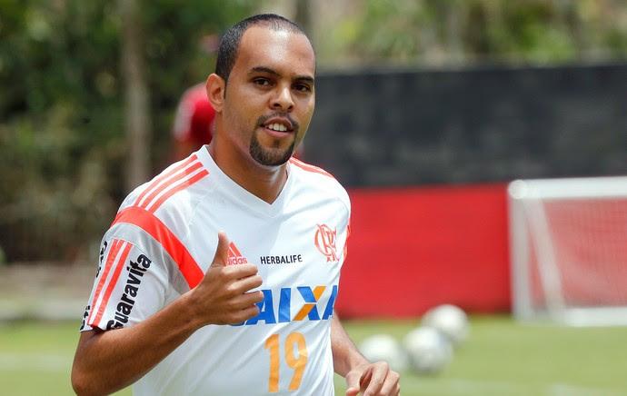 Alecsandro, treino do Flamengo (Foto: Cezar Loureiro / O Globo)