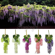 12pcs 105cm Silk Artificial Hanging Flower Silk Wisteria