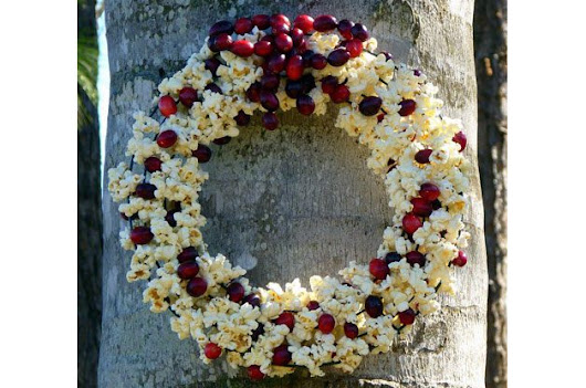 DIY Bird Feeder | Popcorn Cranberry DIY Bird Feeder Wreath