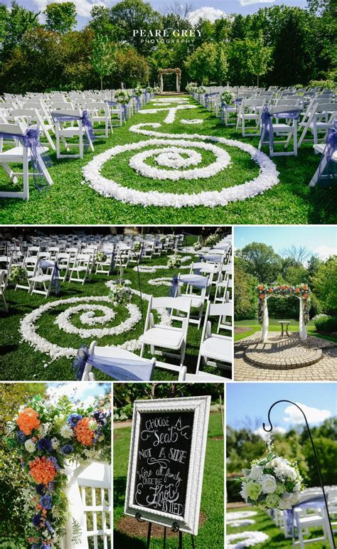 Summer Wedding at Avon Gardens, Indianapolis