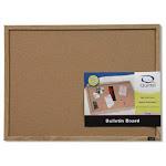 "Quartet 35-380342 Wood Frame Cork Bulletin Board, 17"" X 23"""