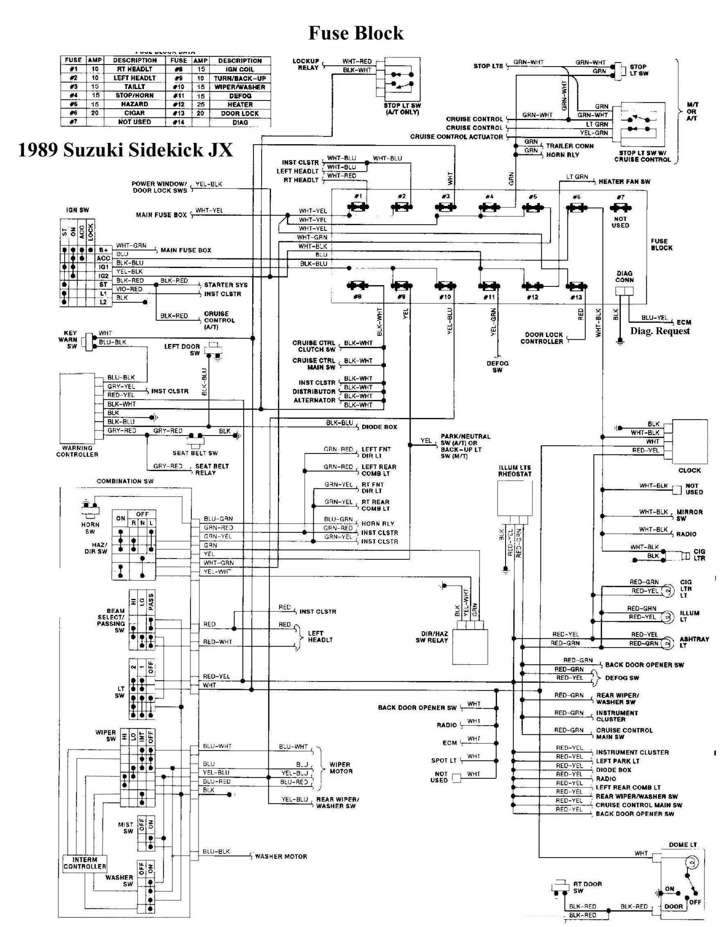 Geo Tracker Wiring Diagram Free - Wiring Diagram