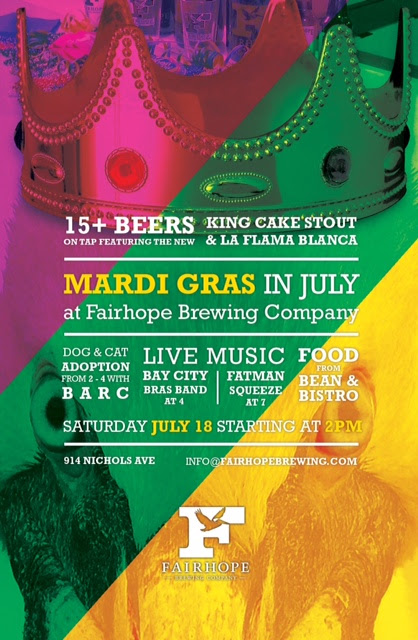 Fairhope Brewing Company's 2nd Annual Mardi Gras in July