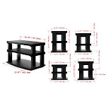 Aleratec 3-Tier LCD LED TV Swivel Stand Entertainment Rack
