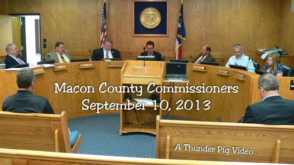 Title Card for 09-10-2013 Meeting  of the Macon County Commissioners  Photo and Titles by Bobby Coggins