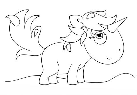 Dibujo De Unicornio Kawaii Para Colorear Dibujos Para Colorear