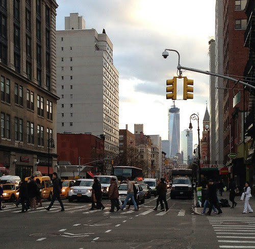 Sixth Avenue, with the nearly finished Freedom Tower in the background