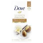 Dove Purely Pampering Beauty Bar Shea Butter 4 oz, 6 Bar