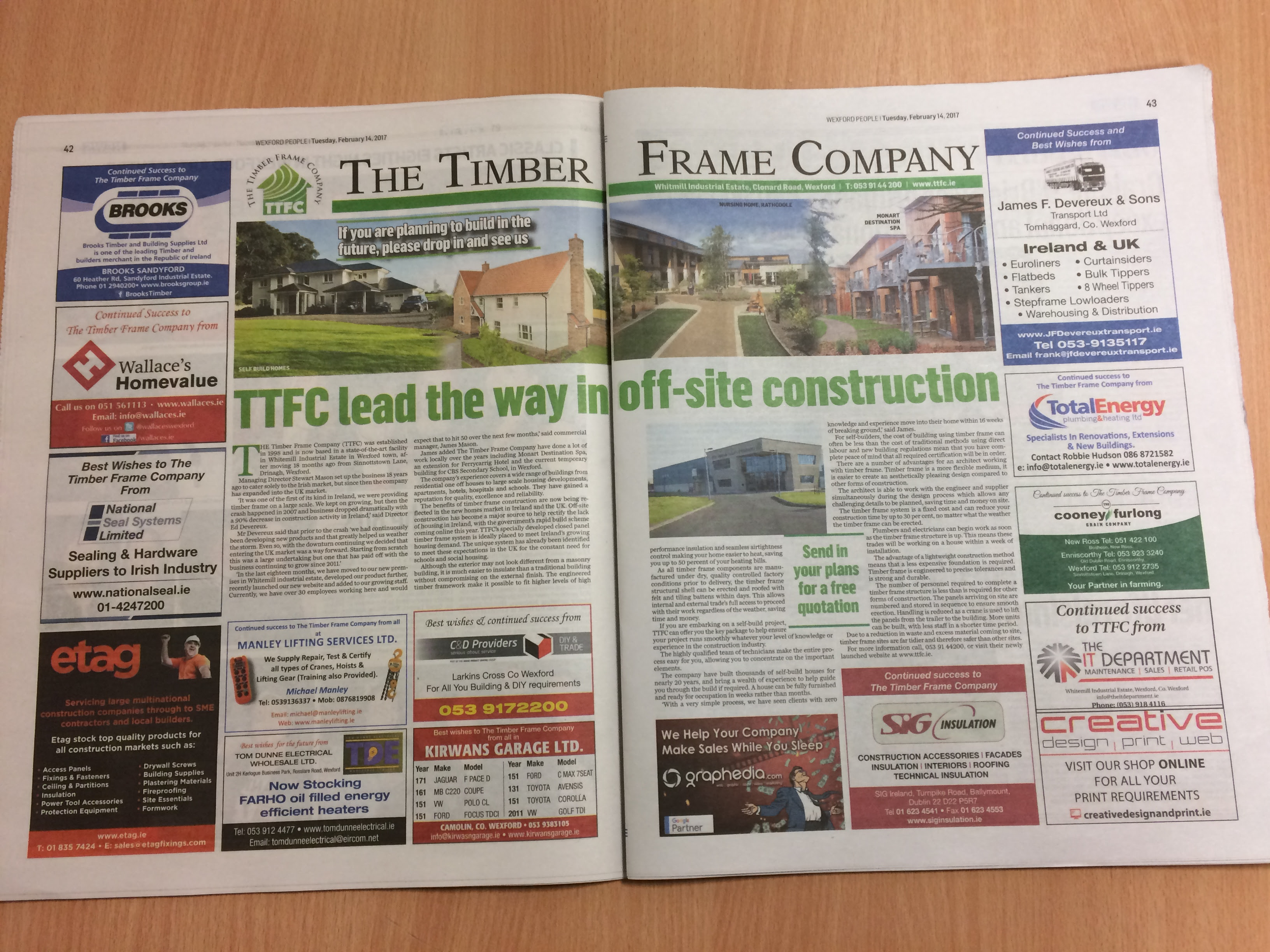 Ttfc Feature In South East Newspaper The Timber Frame Company