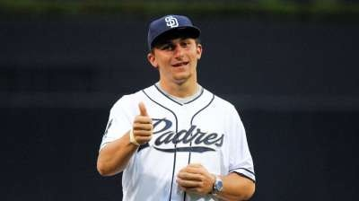 Johnny Manziel Drafted by the San Diego Padres #MLBDraft #MLB #JohnnyBaseball #Padres  Johnny Manziel...