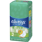 Always Ultra Pads w/Flexi Wings - 32ct, Size: 32 Count