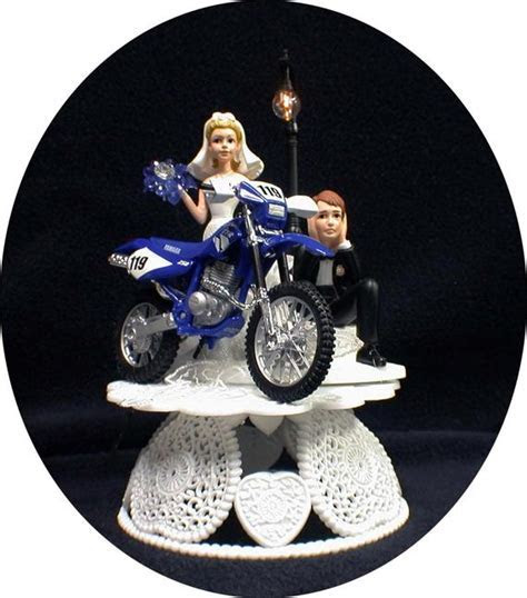 Yamaha Dirt Bike Motorcycle Wedding Cake topper