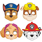 Paw Patrol Party Masks, 8ct