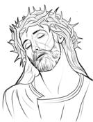 Jesús con la corona de espinas from Viacrucis de Jesús, estaciones de la cruz