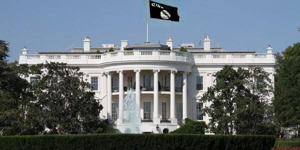 White house ISIS flag