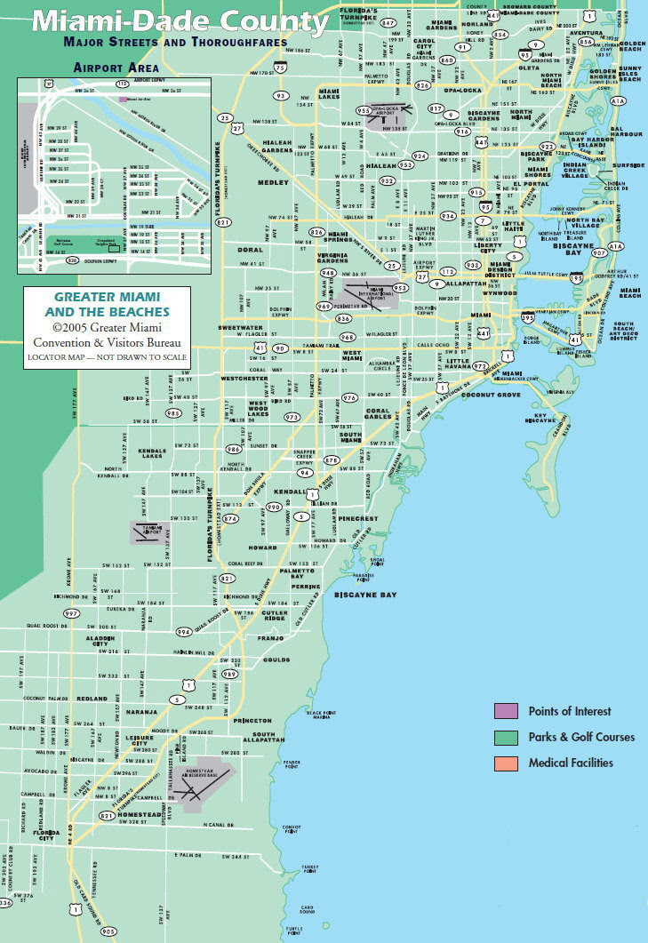 miami dade and broward county map