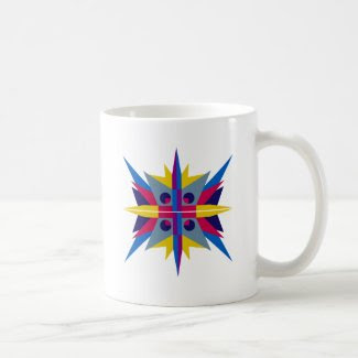 Coffee Mug with Art Deco Star