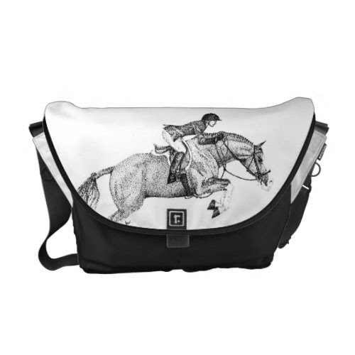 Hunter Pony Pointillism Messenger Bag
