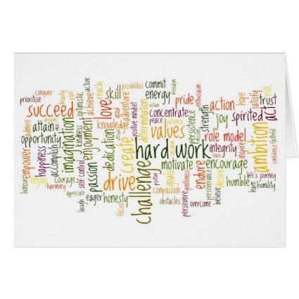 Motivational Words #2 birthday card