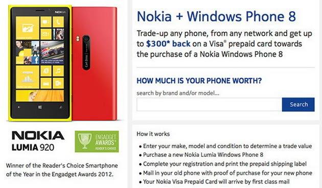 Nokia, đổi điện thoại cũ, 300 USD, Lumia 925, Lumia 920