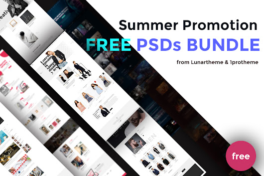SUMMER PROMOTION: Chance to get free PSD Templates! - Lunartheme - Wordpress Theme, Free HTML | PSD templates