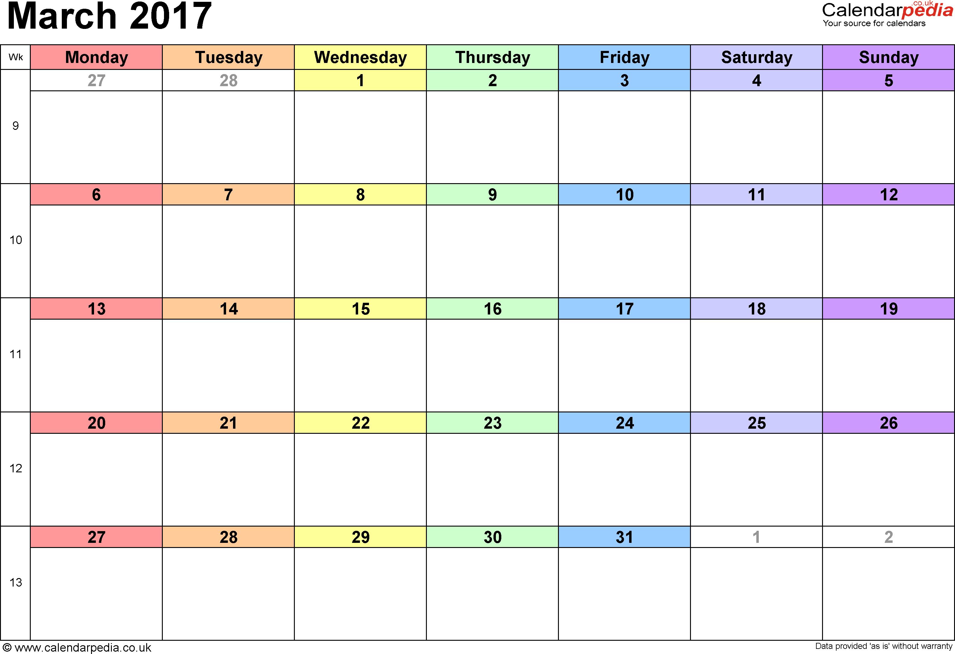 March Calendar 2017 Png – 2017 March Calendar