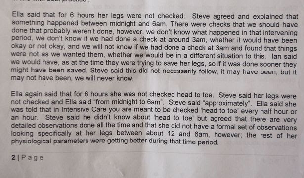 Collect of a letter to Ella Clarke from the NHS